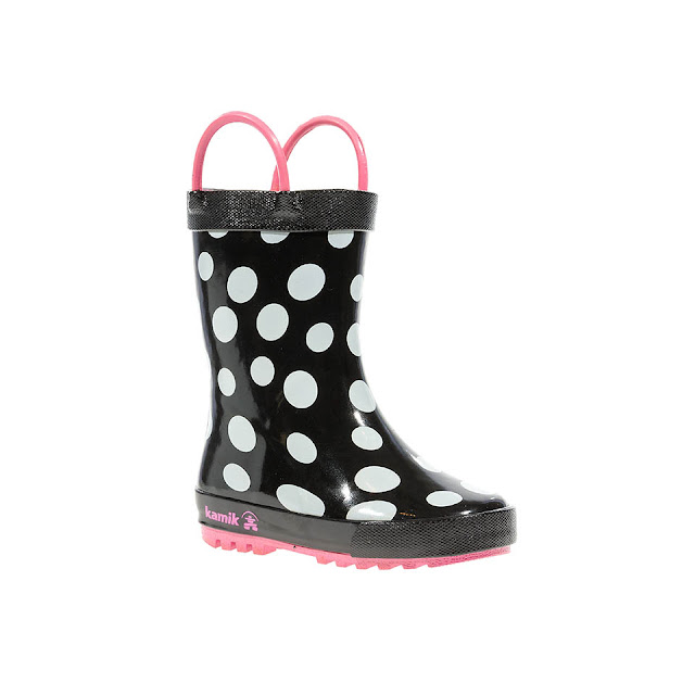 kamik polka dot boots for toddlers