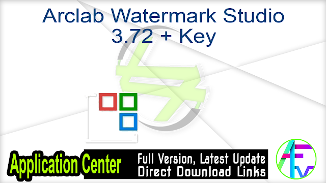 Arclab Watermark Studio 3.72 + Key