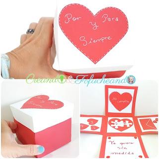 caja explosiva romántica