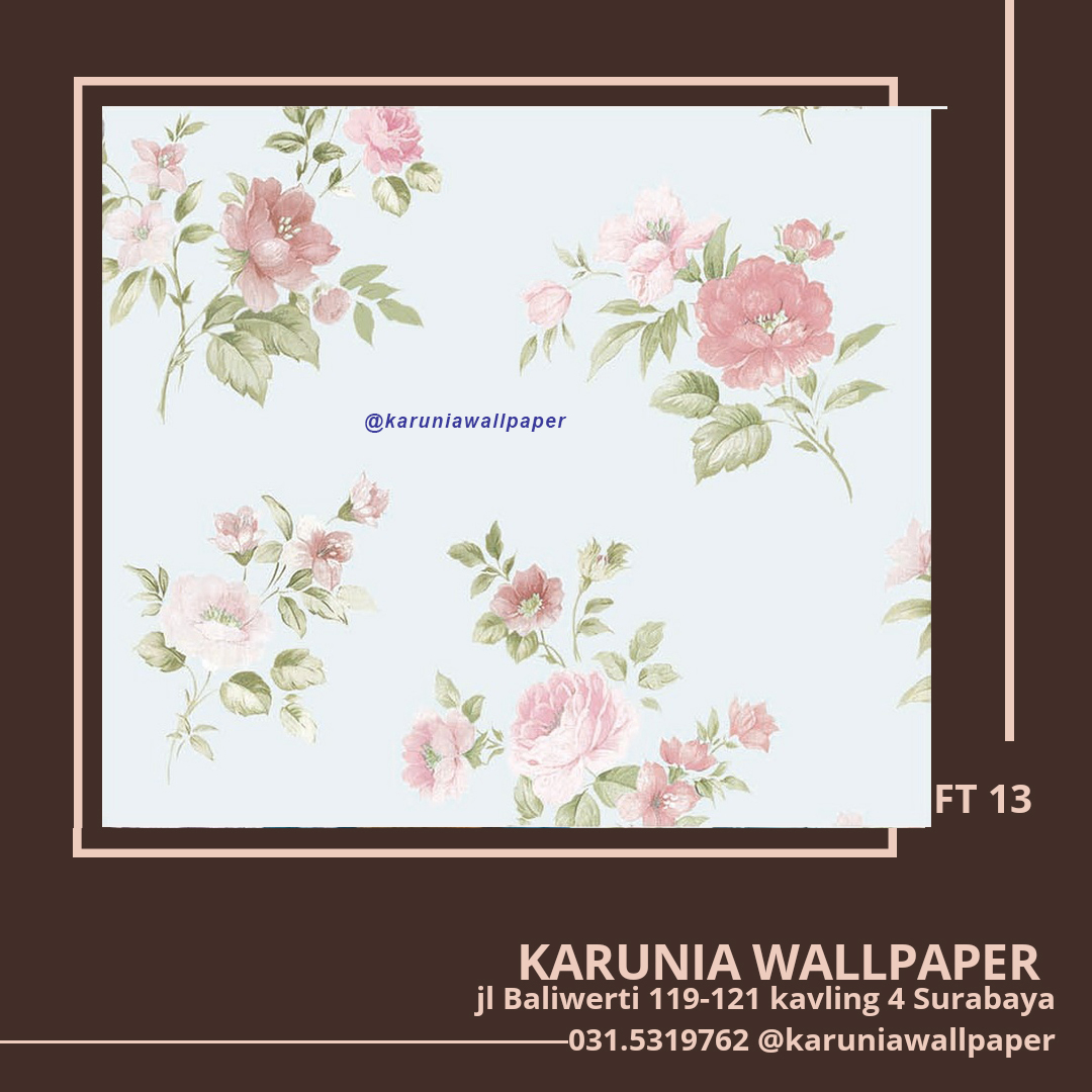 jual wallpaper bunga shabby