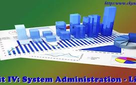 Unit IV: System Administration - Linux