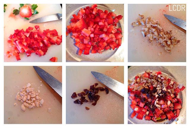 Receta de alcachofas con vinagreta de fresas y frutos secos 01