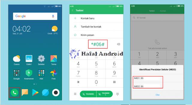 Cek IMEI Xiaomi Dengan Kode Dial Telepon