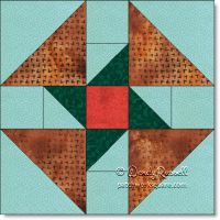 By the Sea quilt block © W. Russell, patchworksquare.com