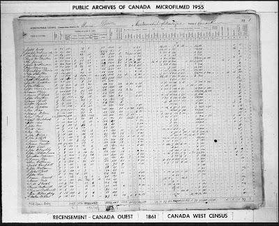 1861 census of Canada East, Canada West, New Brunswick, and Nova Scotia, Canada West, Lanark County, district 11, Township of Montague, Agricultural schedule, p 22; RG 31; digital images, Ancestry.com Operations, Inc., Ancestry.com (www.ancestry.com : accessed 17 Feb 2021); citing Library and Archives Canada microfilm C-1042-1043.