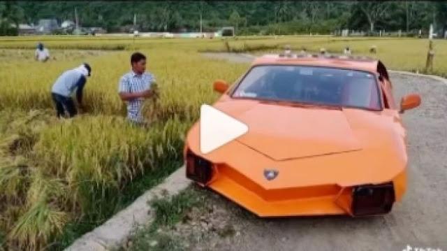 Lamborghini Ini Viral karena Parkir di Pinggir Sawah