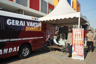 Kapolri Gelar Posko PPKM di Pasar, pastikan perekonomian dan prokes berjalan