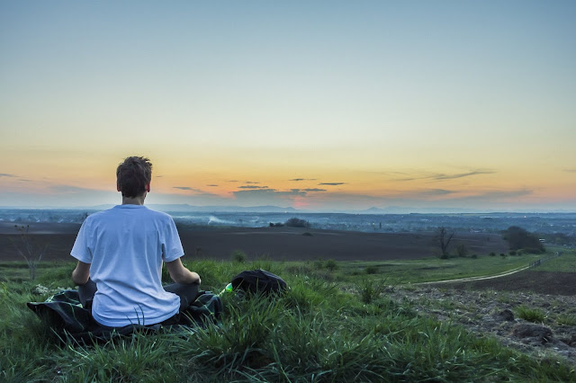 Meditation, Teenage, Hill, Scenery