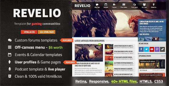 Best Responsive Gaming HTML Template
