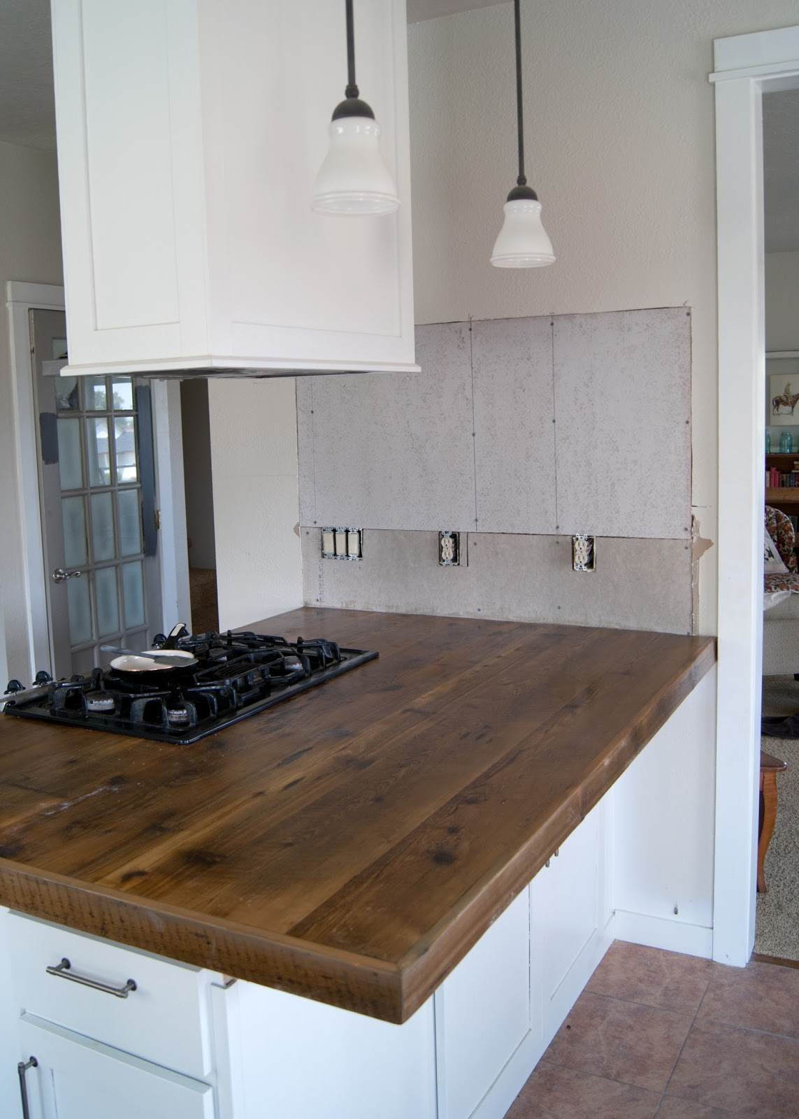 diy reclaimed wood countertop kitchen island countertop DIY Reclaimed Wood Countertop afte