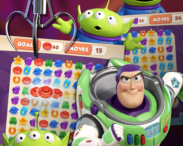 Toy Story Drop! Screenshot with Buzz, Alien and the Claw