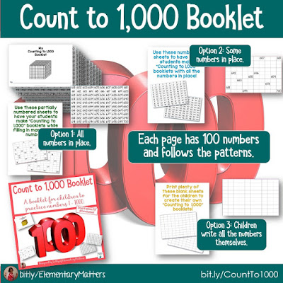 https://www.teacherspayteachers.com/Product/Count-to-1000-Booklet-2314760?utm_source=blog%20post&utm_campaign=Count%20to%201000%20booklet