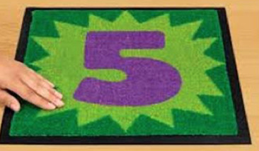numbered rug squares