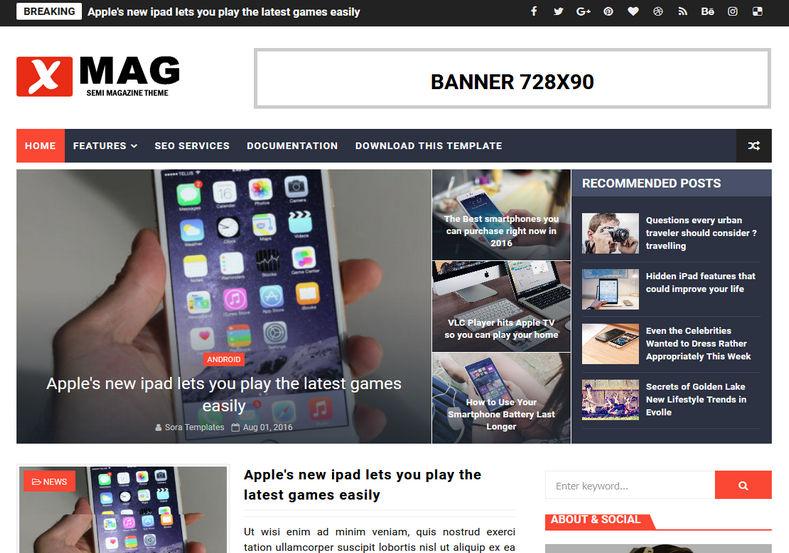 xmag-blogger-template-premium