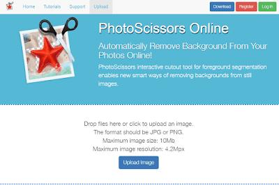 موقع online.photoscissors