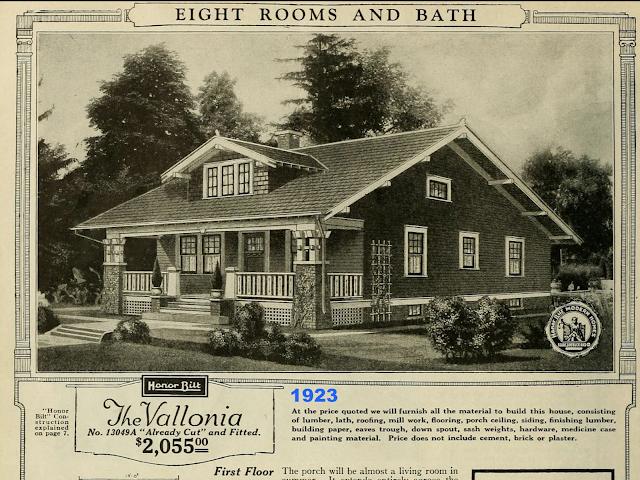 black and white catalog image Sears Vallonia 1923