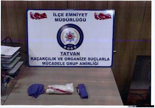 Tatvan'da Ayakkabı Tabanında Uyuşturucu Maddesi Gizlenmiş Şahıs Yakalandı.