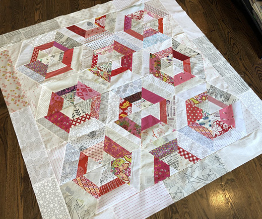 Candy Hex Quilt designed by Tiny Orchard Quilts