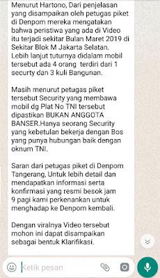 Klarifikasi Video Viral 'Banser Mengaku TNI Diamankan Dandenpom Tangerang'