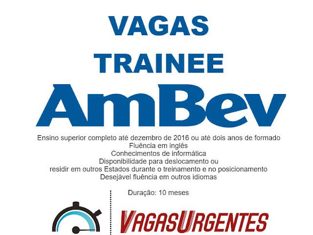 Trainee AMBEV São Paulo