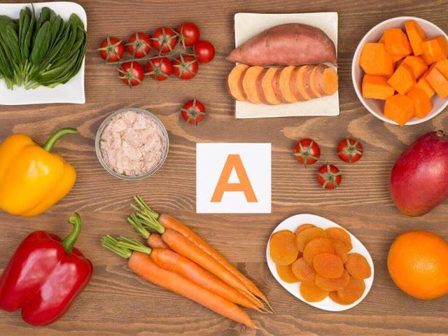فيتامين أ A Vitamin  - وظائفه , مصادره , الامراض المتعلقه والكمية الموصى بها