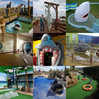 Sharks on the Crazy World of Minigolf Tour