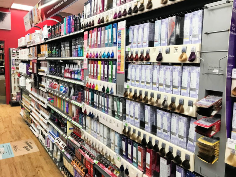 Sally's Beauty hair dye isle