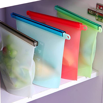 House of Quirk Reusable Silicone Food Preservation Bags