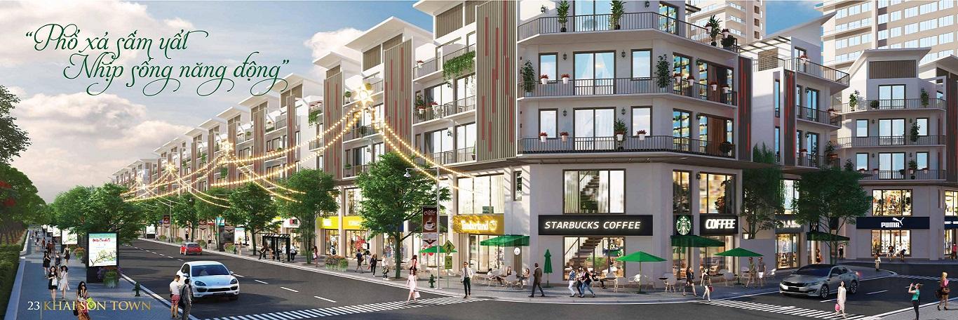Phối cảnh nhà phố thương mại Khai Sơn City