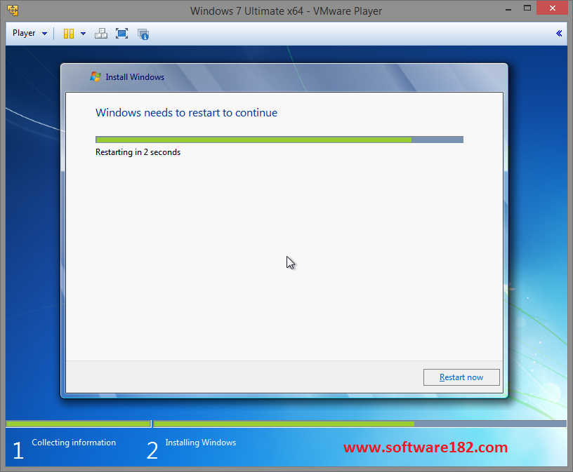 Cara Install Windows 7 di VMware Player