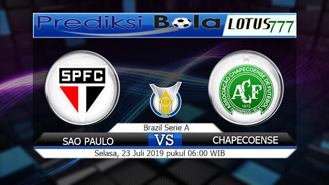 PREDIKSI SAO PAULO VS CHAPECOENSE SELASA 23 JULI 2019