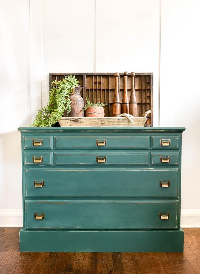 Pressed fern dresser with bronze pulls