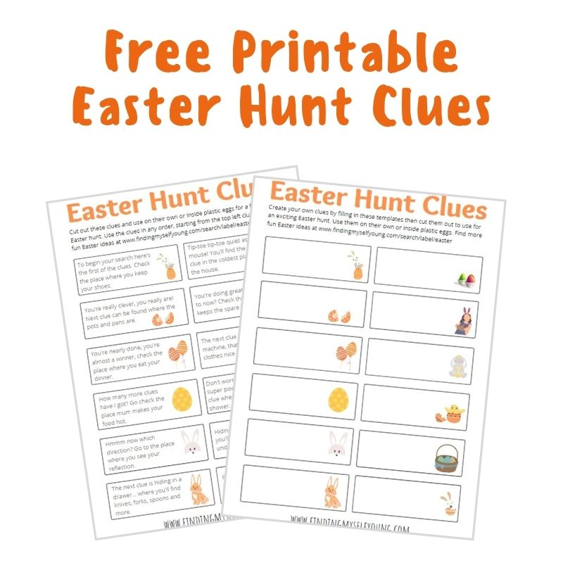 free printable easter egg hunt clues from finding myself young