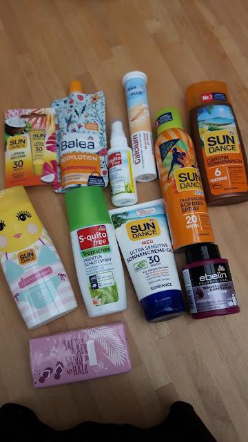 DM-Markt Einkäufe für unseren Urlaub