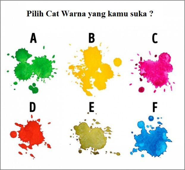 Pilih warna cat air yang Anda suka.