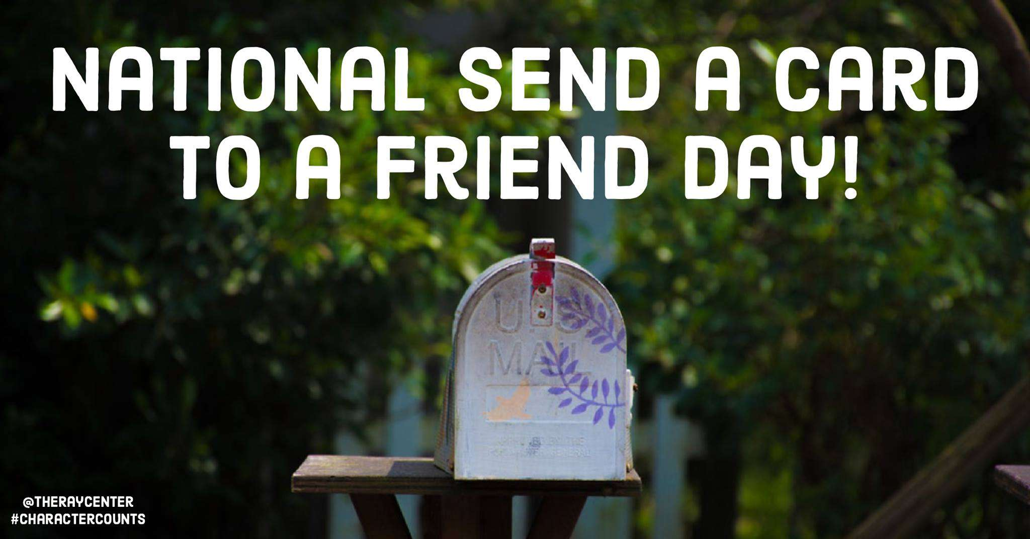 National Send a Card to a Friend Day Wishes for Whatsapp