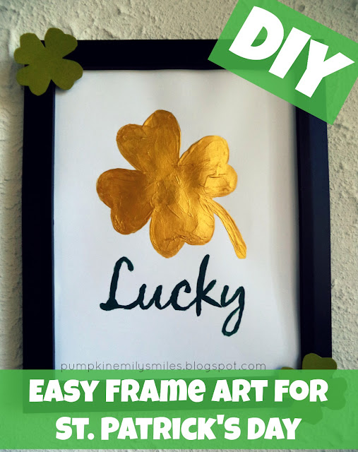 Easy DIY Frame Art for St. Patrick's Day