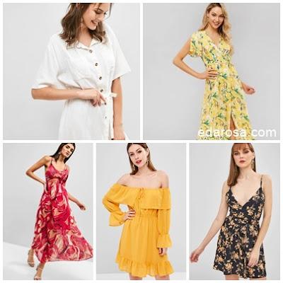opções de vestidos para o dia a dia