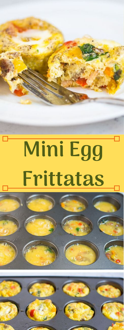 MINI EGG FRITTATAS #dinner #eggroll #food #familyfood #cooking