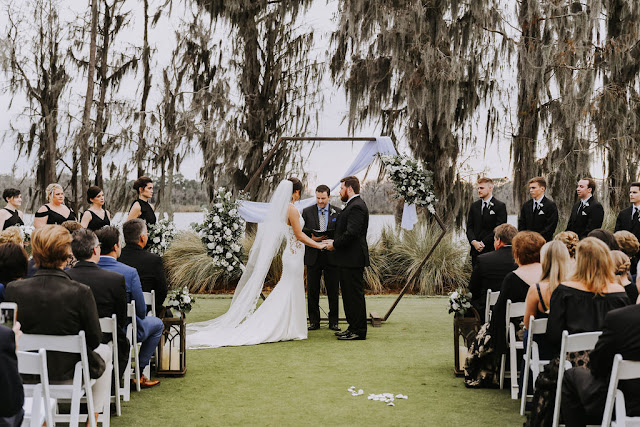 bride and groom in ceremony