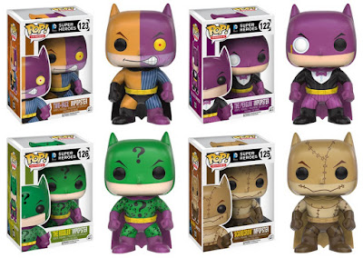 Batman Impopsters Pop! DC Comics Vinyl Figure Series by Funko – Two-Face Batman, The Penguin Batman, The Riddler Batman & The Scarecrow Batman