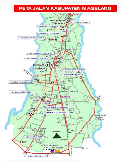 Gambar Peta Jalan Kabupaten Magelang