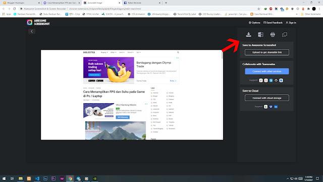 Cara Melakukan Screenshot di Browser