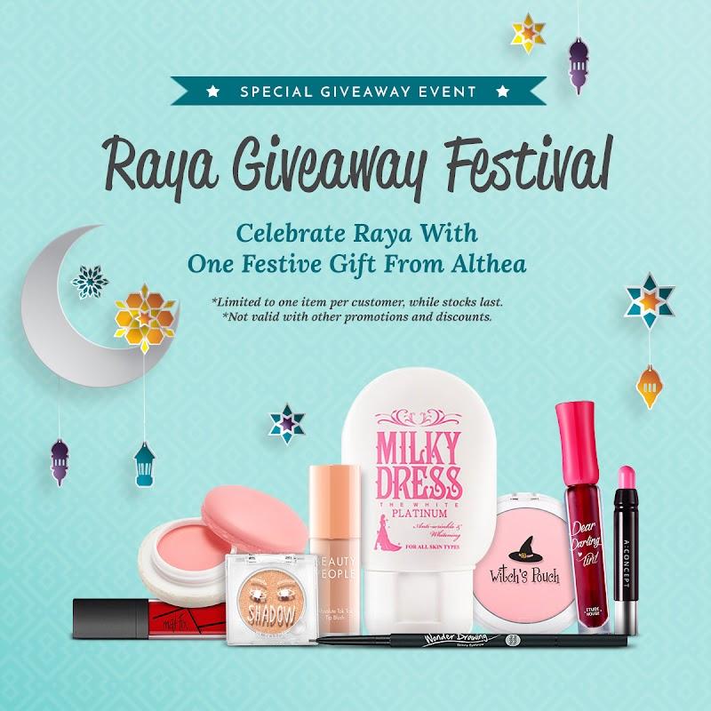 ALTHEA Raya Giveaway Festival - Shopping, Boleh Dapat Hadiah Percuma
