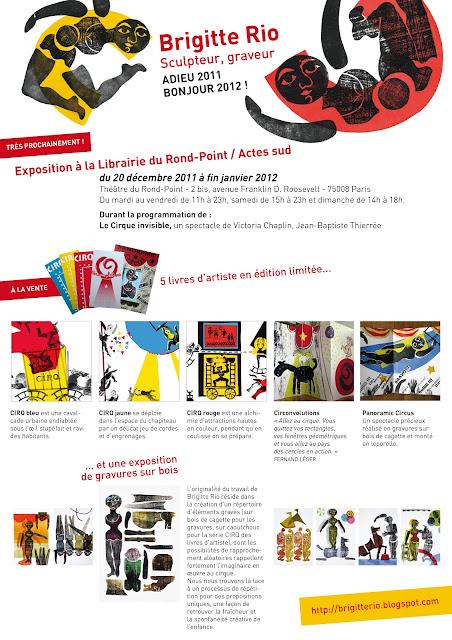 Théatre du Rond Point, exposition cirque de Brigitte Rio