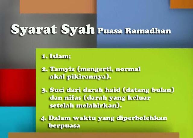 Syarat Syah Puasa Ramadhan