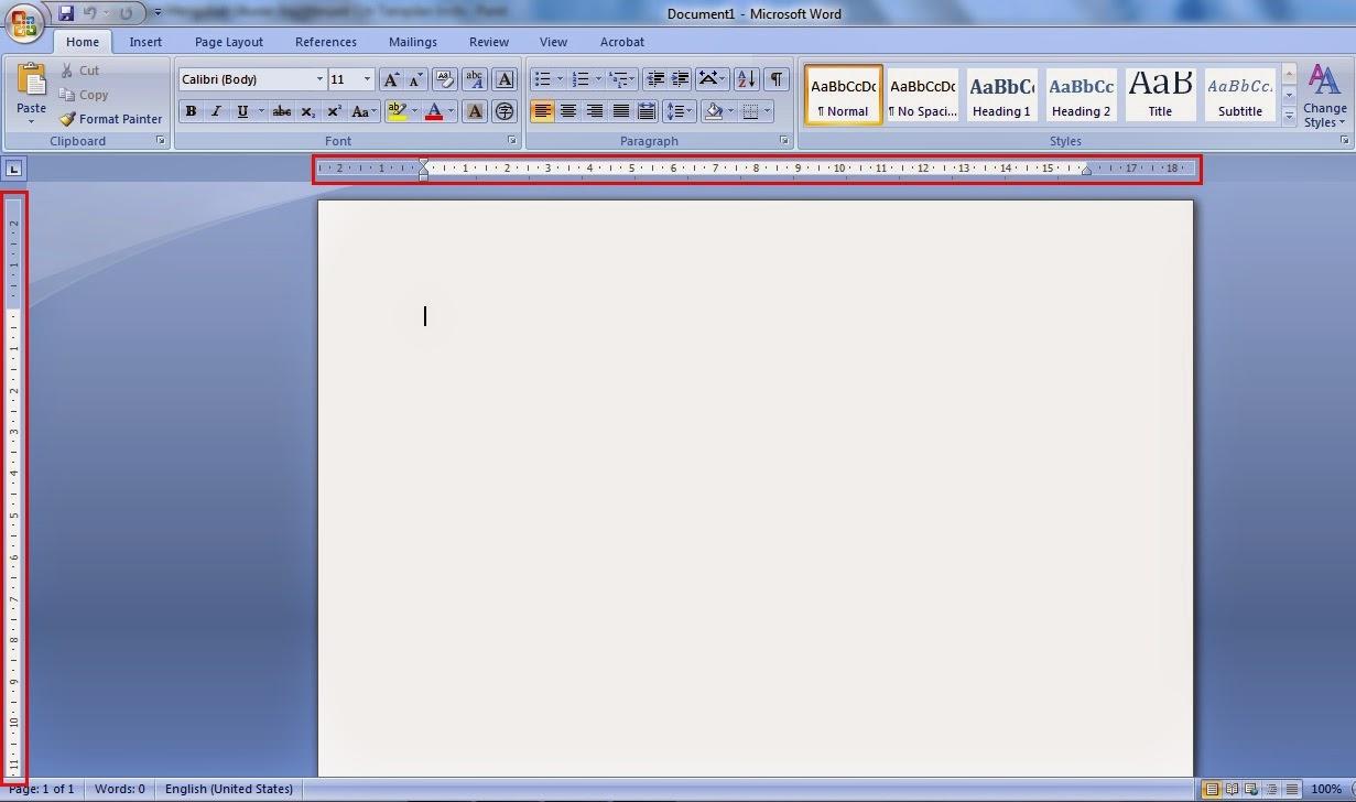 cara merubah ukuran inci menjadi cm pada microsoft word 2007 tampilan centimeters