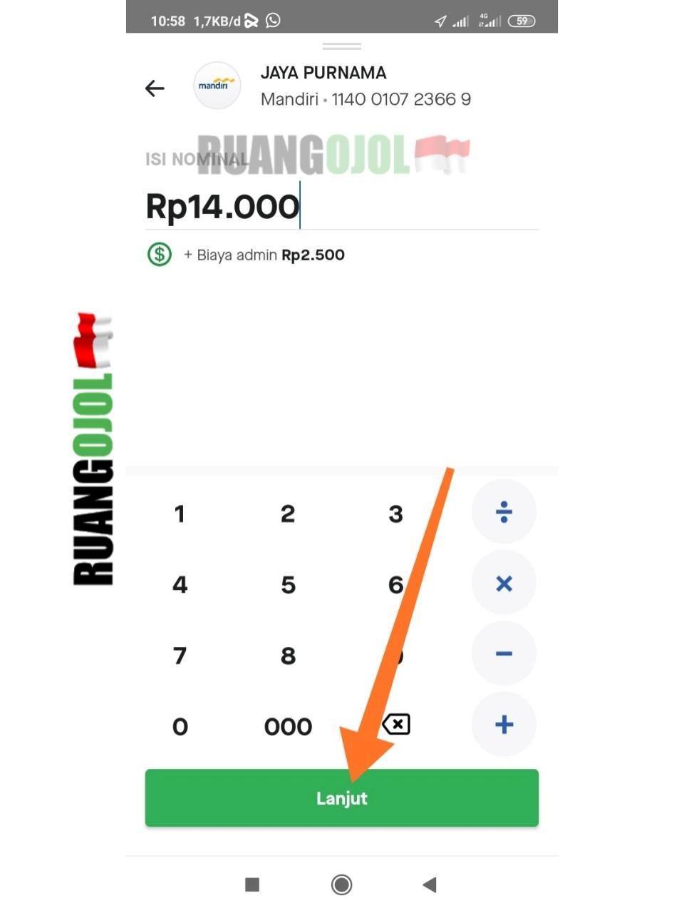 Cara Transfer Saldo Gopay Gojek Customer ke Rekening Bank