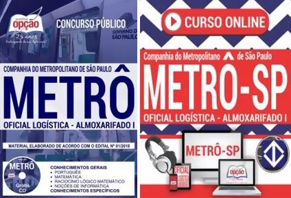 Apostila Concurso Metrô-SP 2018 Oficial de Logística