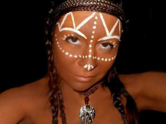 Female African Tribal Face Paint